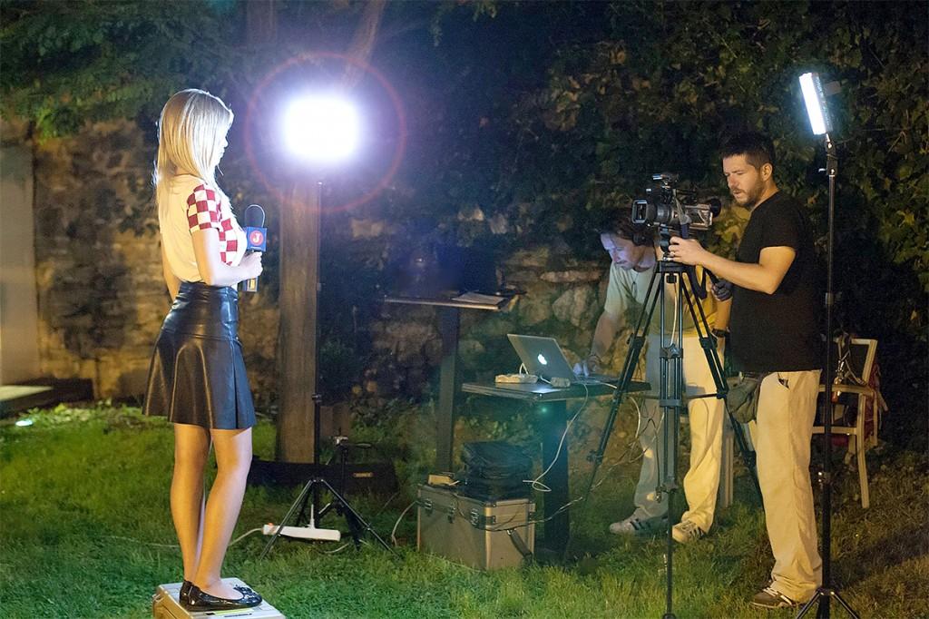 Bion  TV crew on livevideo set